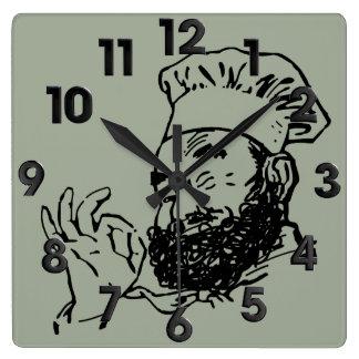Horloge Carrée Chef approuvé