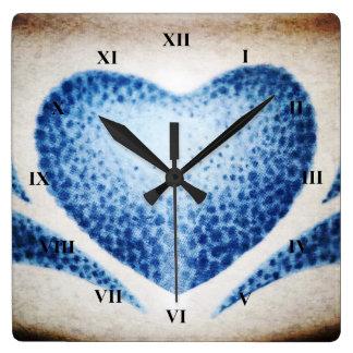 Horloge Carrée Coeur par Shirley Taylor