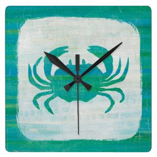 Horloge Carrée Crabe côtier d'Aqua de |