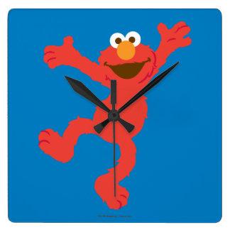 Horloge Carrée Danse heureuse d'Elmo