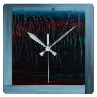 Horloge carrée d'Aotearoa par dal