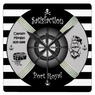 Horloge Carrée ~ de Vie-anneau de ~ de pirate de ~ de corsaire de