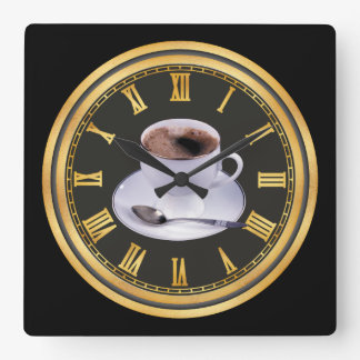 Horloge Carrée Décor noir chaud de siège social de