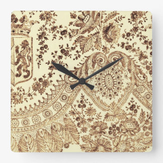 Horloge Carrée Dentelle vintage en Brown