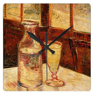 "Horloge Carrée D'une carafe de Van Gogh ""verre d'horloge"