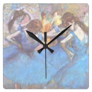 Horloge Carrée Edgar Degas - danseurs dans le bleu - amant de