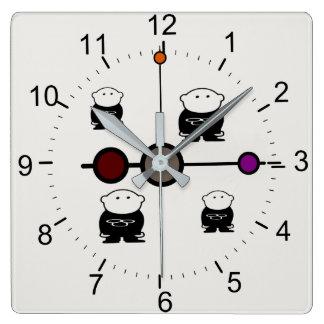 Horloge Carrée Enfants de bande dessinée