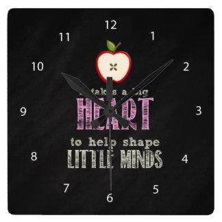 Horloge Carrée Grand coeur