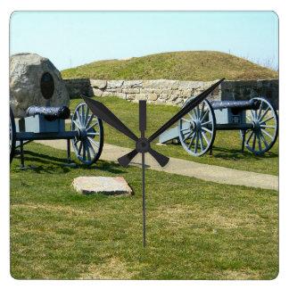 Horloge Carrée Guerre de Phoenix le Massachusetts de fort de