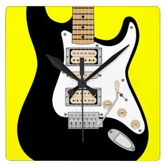 Horloge Carrée Guitare électrique