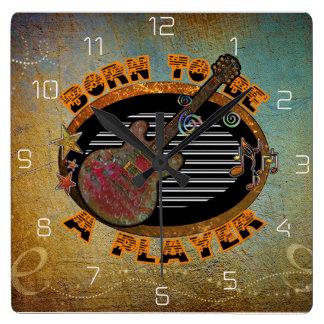 Horloge Carrée Guitare électrique ID281 de joueur