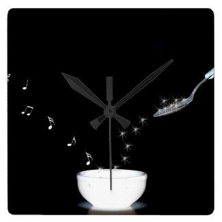 Horloge Carrée Heure pour la musique