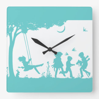 Horloge Carrée Jeu des enfants