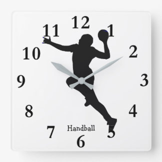 Horloge Carrée Joueur de handball