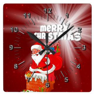 Horloge Carrée Joyeux Noël