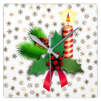 Horloge Carrée Joyeux Noël et bonne année