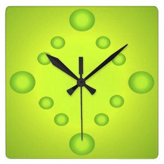 Horloge Carrée La chaux peu commune d'art de bruit expose au
