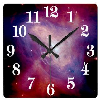 Horloge Carrée La NASA de nébuleuse de crabe de Chandra