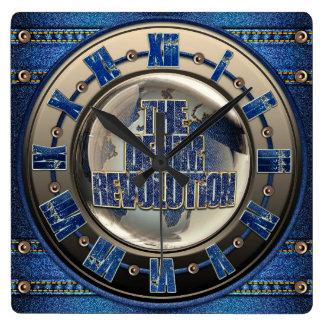 Horloge Carrée La révolution de denim