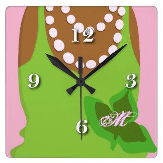 Horloge Carrée La vie de sororité