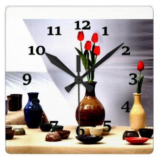 Horloge Carrée La vie toujours