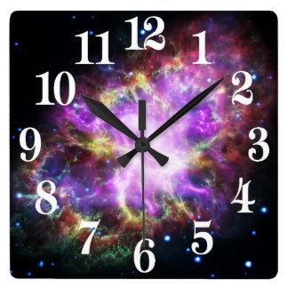 Horloge Carrée Le rayon X de Chandra dans la nébuleuse de crabe