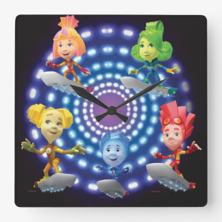 Horloge Carrée Le top secret de Fixies | - enfants de Fixie