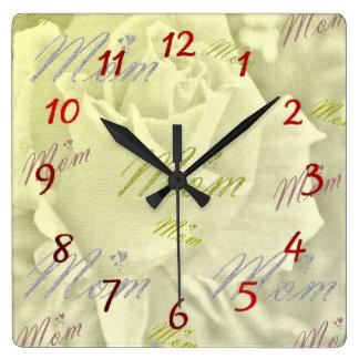 Horloge Carrée montres de maman
