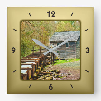 Horloge Carrée Moulin de Mingus, image de Great Smoky Mountains