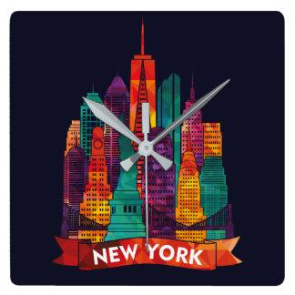 Horloge Carrée New York - voyage aux points de repère célèbres