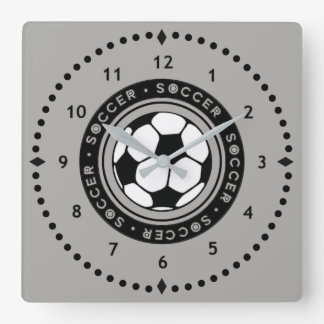 Horloge Carrée Noir et gris d'horloge murale de ballon de