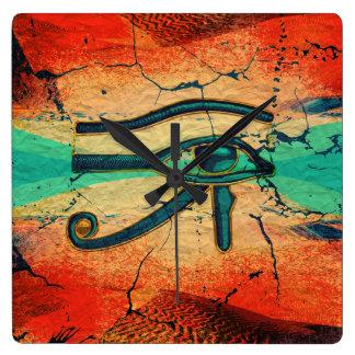 Horloge Carrée Oeil égyptien de Horus - Ra