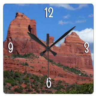 Horloge Carrée Photographie de voyage de la roche I Sedona
