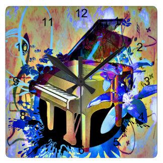Horloge Carrée Piano génial