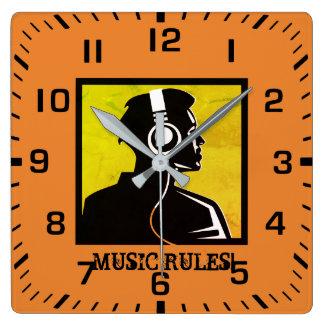 Horloge Carrée Règles de musique