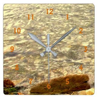 Horloge Carrée Roches côtières