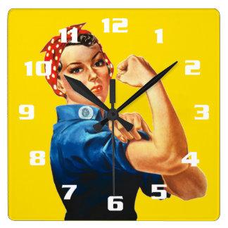 Horloge Carrée Rosie le rivoir