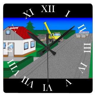 Horloge Carrée Routes et construction