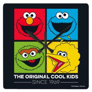 Horloge Carrée Sesame Street | les enfants frais originaux