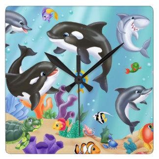 Horloge Carrée Sous l'horloge murale de mer