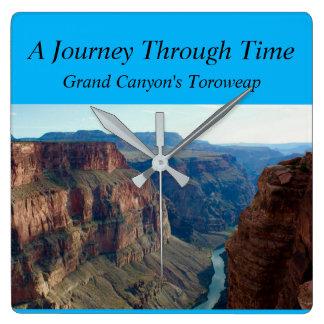 Horloge Carrée Un voyage par le temps