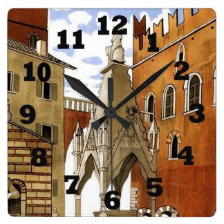 Horloge Carrée Ville de Vérone en Italie