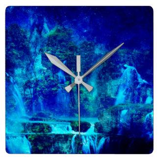Horloge Carrée Voyage à Neverland