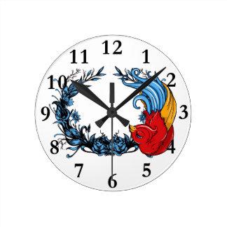 horloge d'art d'oiseau