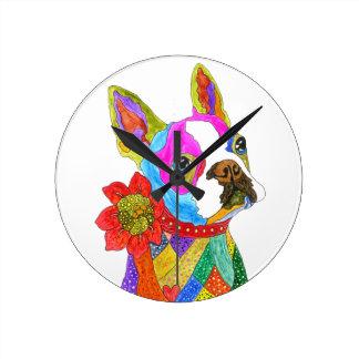 Horloge de Boston Terrier (vous pouvez customiser)
