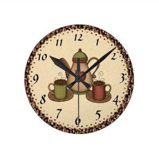 Horloge de café de cuisine