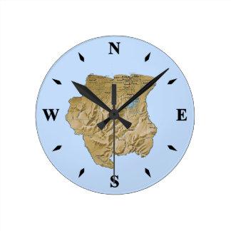 Horloge de carte du Surinam