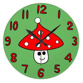 Horloge de champignon de casquette de Père Noël