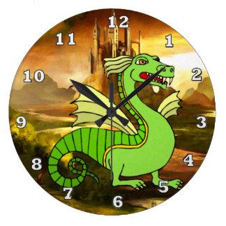 Green Dragon Clock