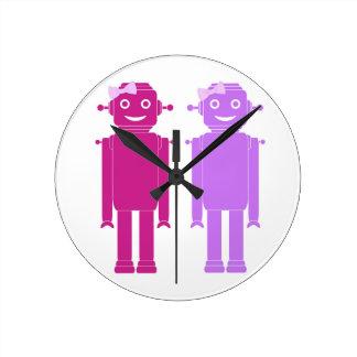 Horloge de filles de robot